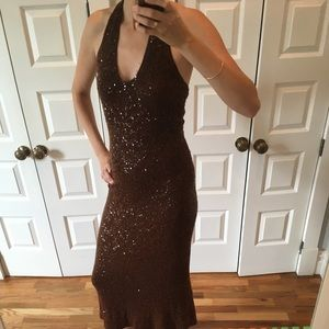 Donna Karan Collection cashmere sequin dress